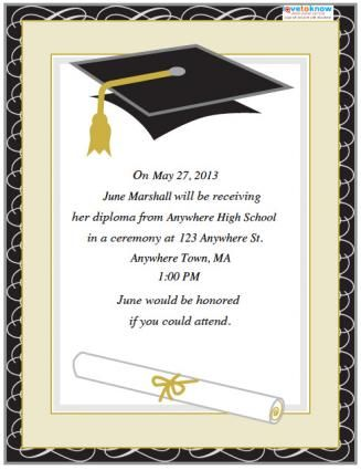 Ceremony Invitation Free Printable Graduation