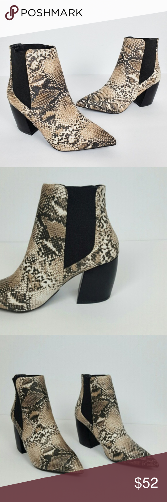 Style of Women`s Snake print Ankle Boot Love this New Style of Women`s Snake print Ankle Boot  Color Brown - Black Perfect to complement your favorite outfit and be ready for the day! Material: PU LEATHER Heel high : 3