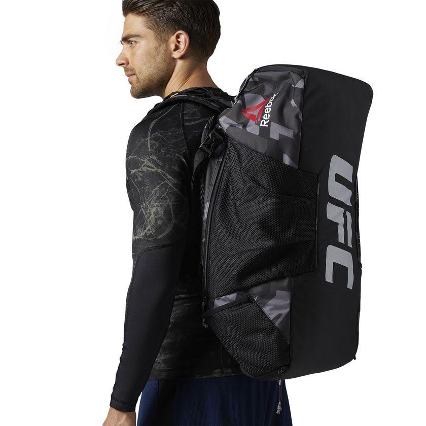 e688272365 Reebok UFC Ultimate Fan Convertible Grip Duffle Bag - Black | Reebok ...