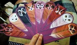 Resultado de imagem para marca pagina de coruja de papel