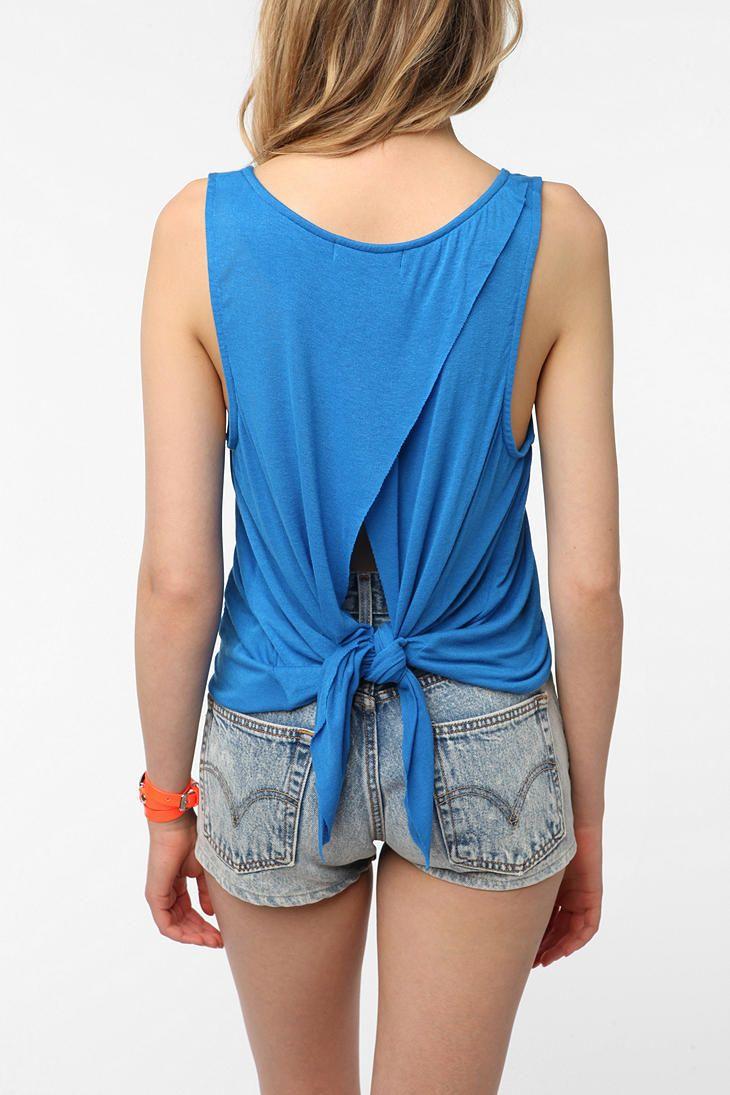 81e35d2712c Daydreamer LA Tie Back Tank Top | DIY/crafts | Diy old tshirts, Diy ...