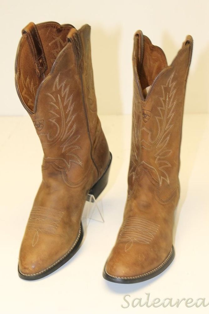 87b82fa0667 Ariat #15725 Western Heritage Womens 8 C 39 W Leather Round Toe ...