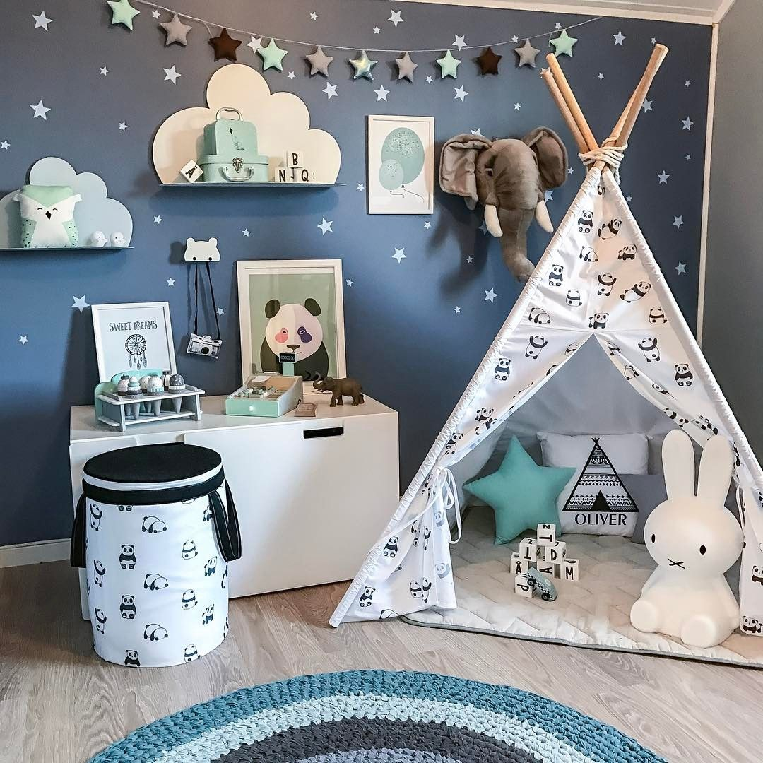 """2,276 Likes, 40 Comments - Madelenmom of 3 (@madelen88) on Instagram: """"Oliver's favorite place in his room is inside his tipi tent, every night he fill up the tent with…"""""""
