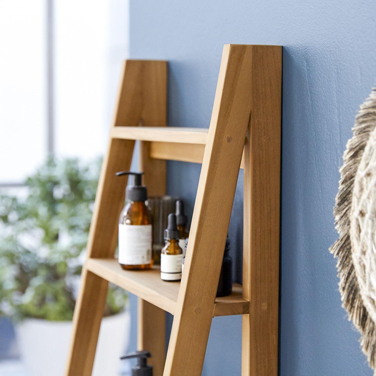 Solid Teak Bathroom Shelf Vertical Tier Design Natural Bathroom Furniture In 2020 Teak Bathroom Step Shelves Teak