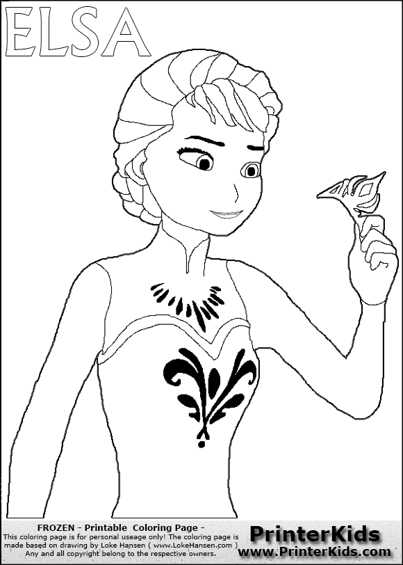 disney frozen elsa throwing crown coloring page