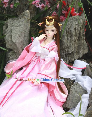 Ancient Chinese Pink Hanfu SD Clothing Complete Set | 예쁜그림 ...