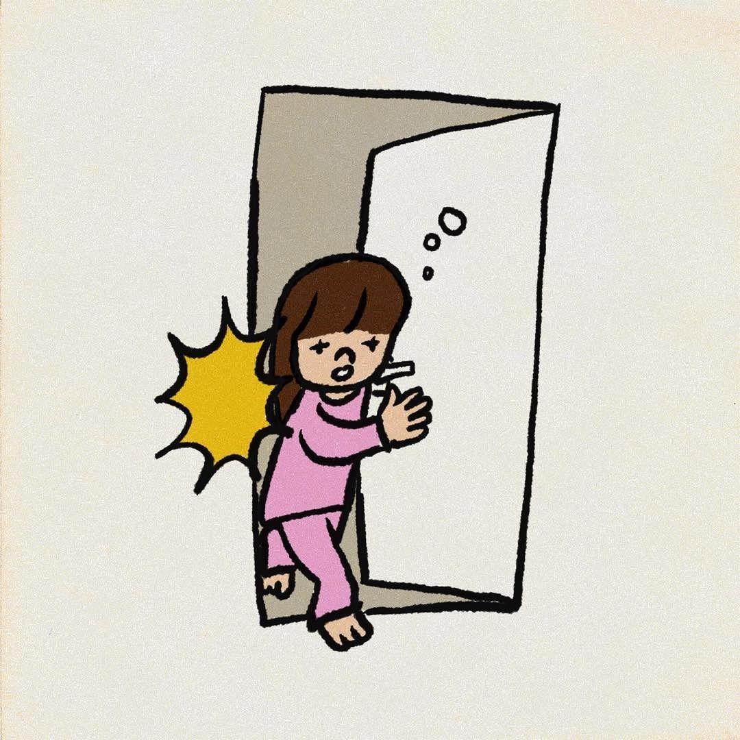 お願いだからいきなりトイレのドアを開けないで イラスト Instagram Posts Illustration Vault Boy