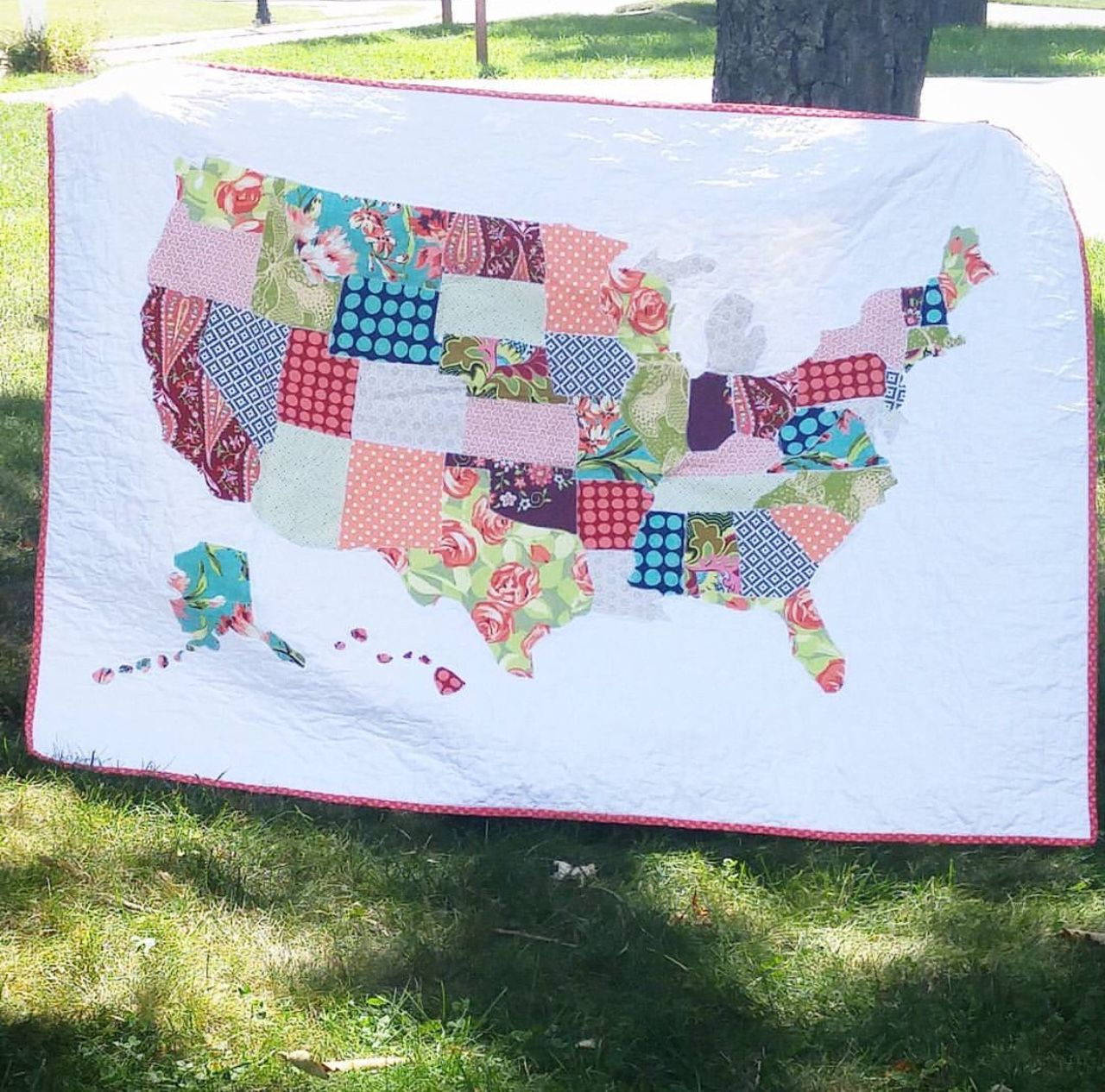 We love this customer's take on our free map quilt tutorial. Click ... : map quilt pattern - Adamdwight.com
