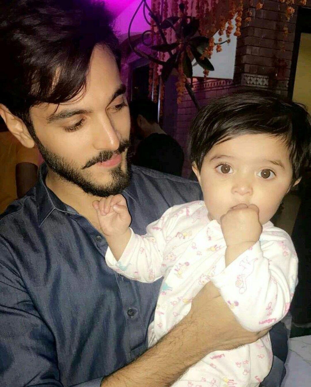 Handsome wahaj ali with her daughter | Tv actors, Pakistani people, Actors & actresses