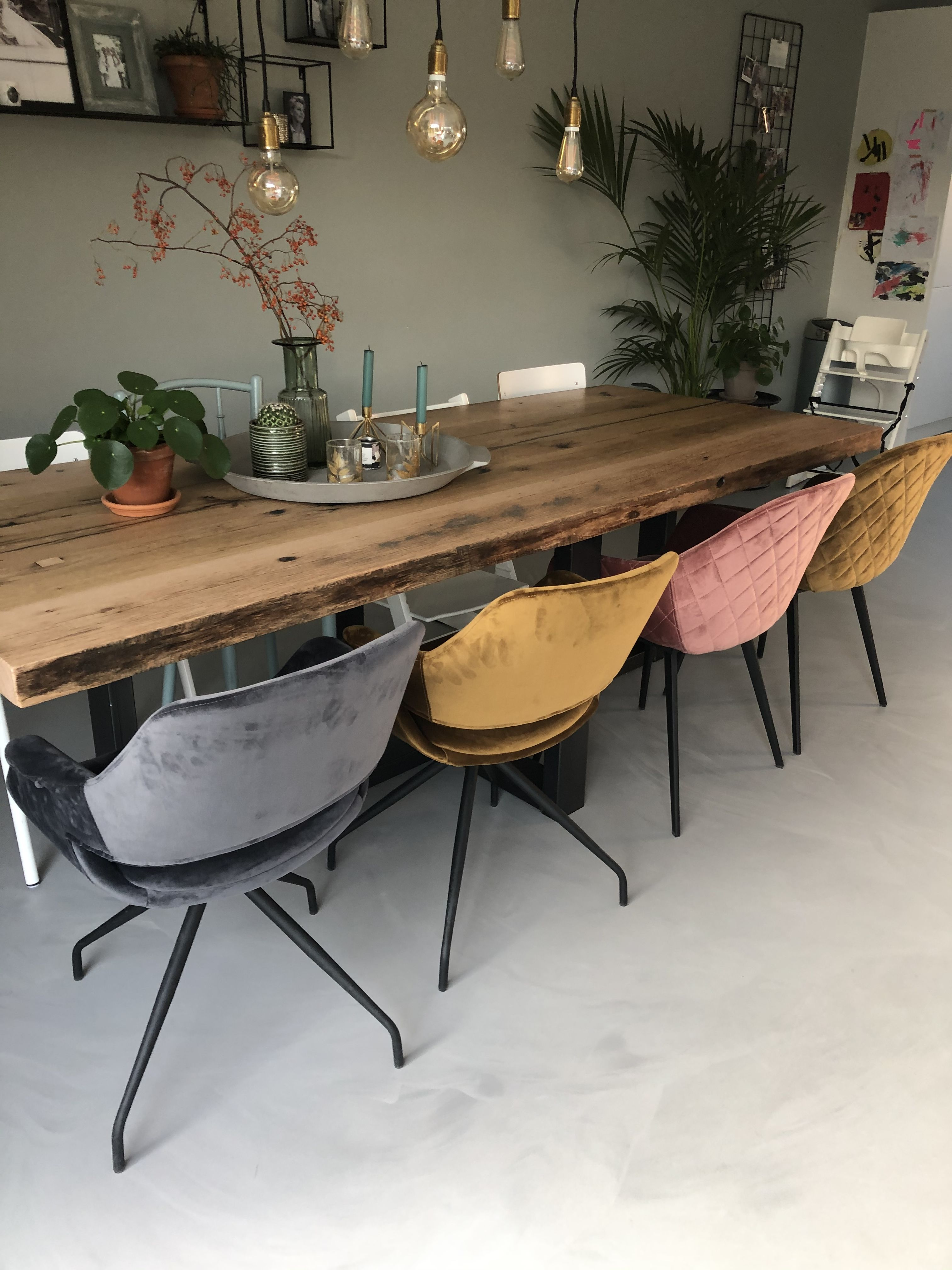 Velvet stoel armstoelen draaibaar