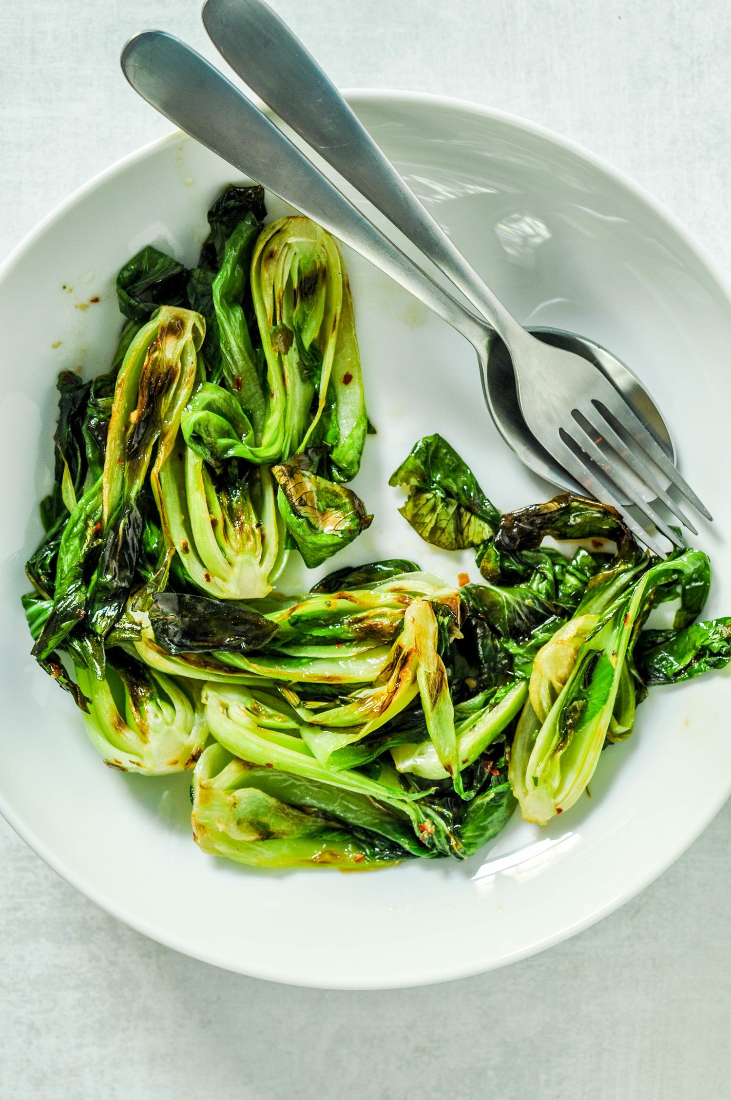 Grilled Baby Bok Choy images