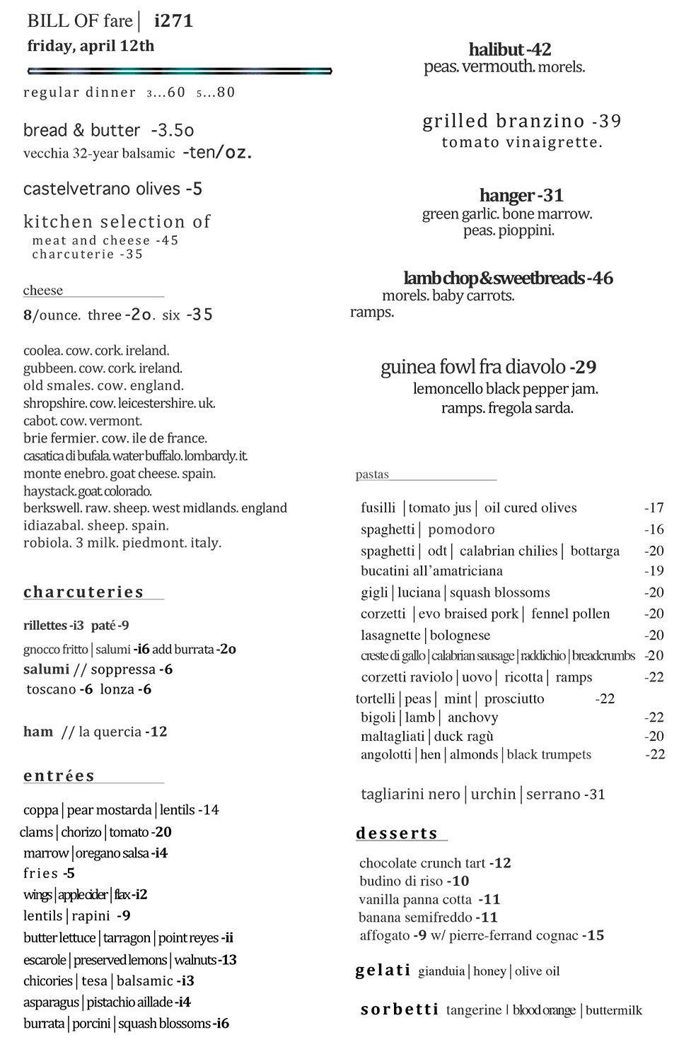 The Tasting Kitchen - Bill of Fare | Let\'s Eat! | Pinterest ...