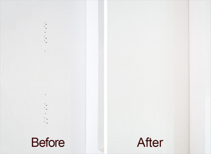 壁に開いたクギやピンの穴をキレイに補修する 2つの方法で検証しました クロス 補修 壁 穴 補修 補修