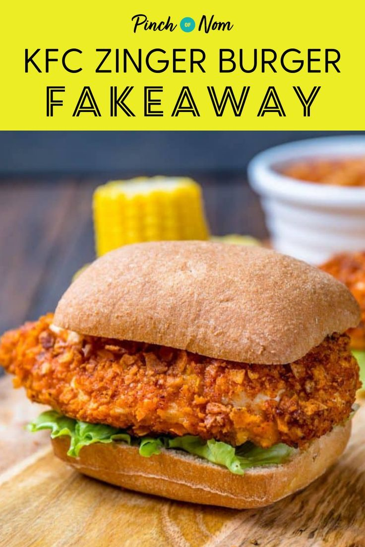 This Kfc Zinger Burger Fakeaway Is Just Like The Real Thing And So Simple To Make Kfczingerburger Fakeaway Recipes Healthy Fakeaway Recipes Healthy Recipes