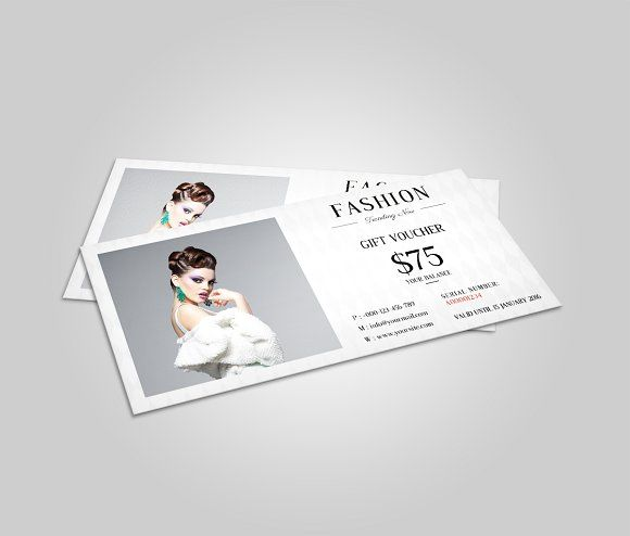 Fashion Gift Voucher Template | Template and Card templates