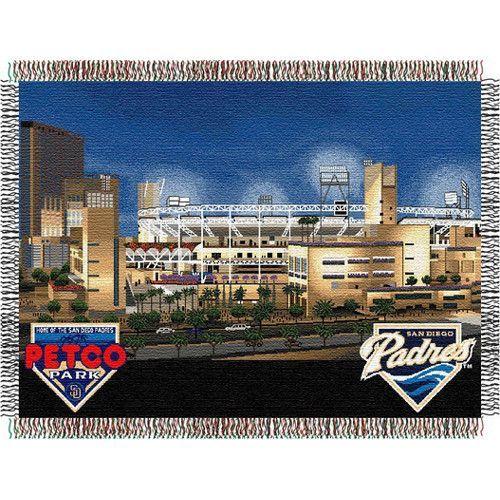 San Diego Padres MLB Petco Park Triple Woven Throw