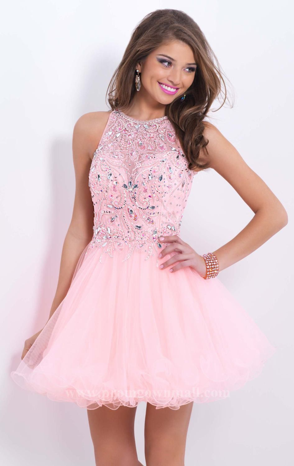 Sweet beaded haltered dress by blush by alexia prom