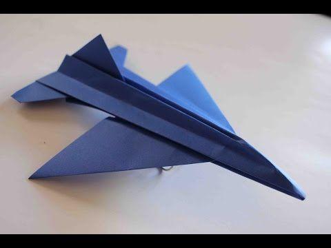 Como Hacer Un Avion De Papel Que Vuela Mucho Aviones De Papel Origami Avión F16 Como Hacer Un Avion Manualidades De Aviones Aviones De Papel