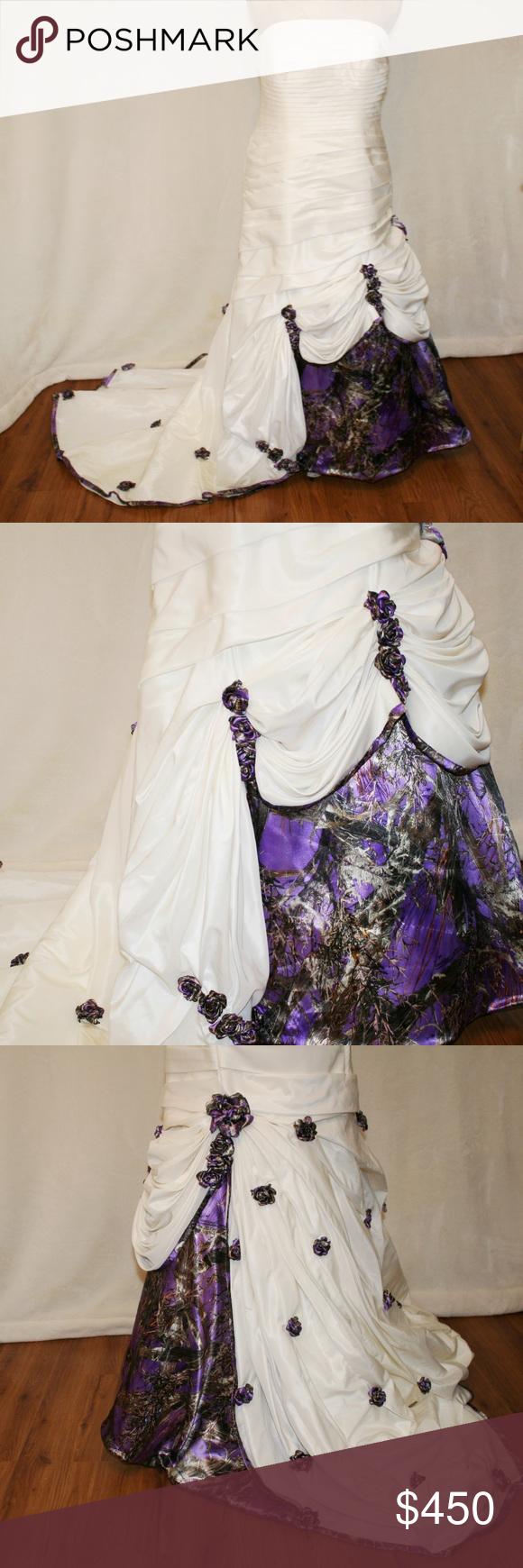 Sold Purple Camo Wedding Gown Bridal Dress Country Purple Camo Wedding Camo Wedding Purple Camo Wedding Dress [ 1740 x 580 Pixel ]