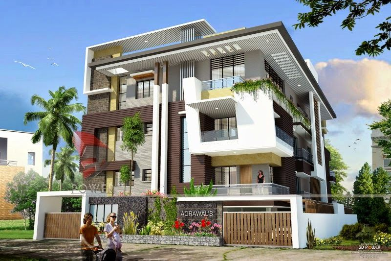 Ultra modern home designs house 3d interior exterior for Modern triplex house designs