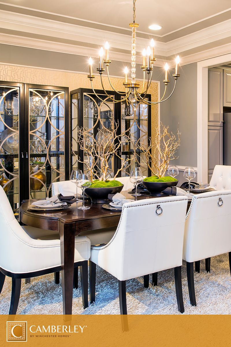 Dream Dining Room A Supremely Elegant Chandelier Is The Center Of Attention In The