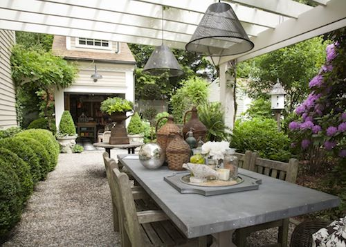 A driveway can be easily be converted into an outdoor dinning space.