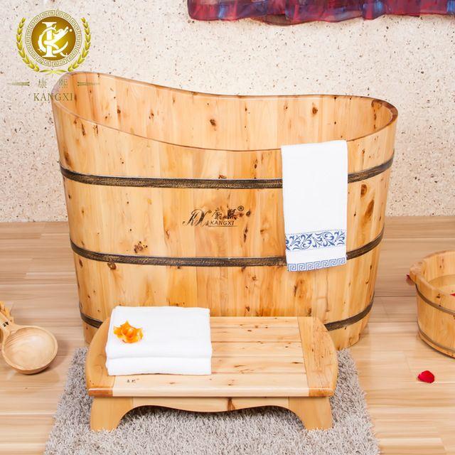 Cedar wood bath barrel tub bath bucket spa bath bucket portable spa