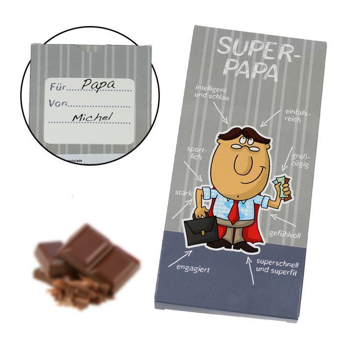 Super Papa Schokolade | Milchschokolade, lustige Geschenke und ...