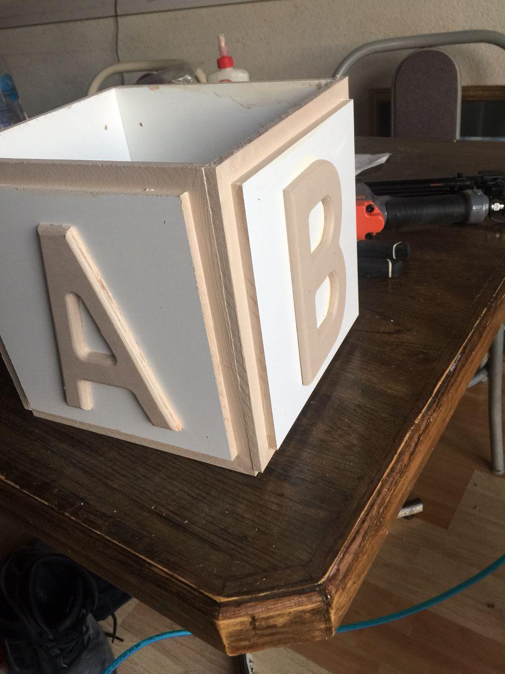 White And Cream Baby Block Centerpiece For Babyshower Baby Blocks Baby Shower Pink Baby Shower Wooden Baby Blocks