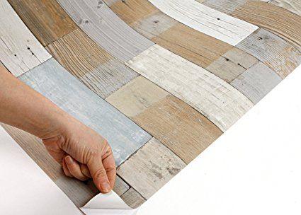 Peel Amp Stick Backsplash Vintage Panel Wood Pattern Contact