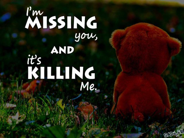 Cute Missing You Quotes For Him Or Her With Images Cute Sad