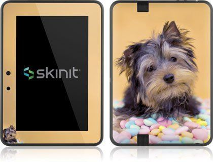 Skinit Yorkie Puppy With Candy Vinyl Skin For Amazon Kindle Fire Hd 7 By Skinit 19 99 Important Skinit Skins Cute Phone Cases Indicator Lights Kindle Case