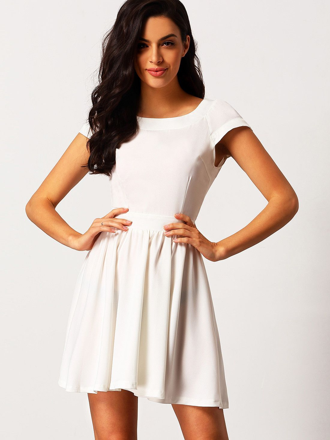 to wear - Casual white dress graduation pinterest video
