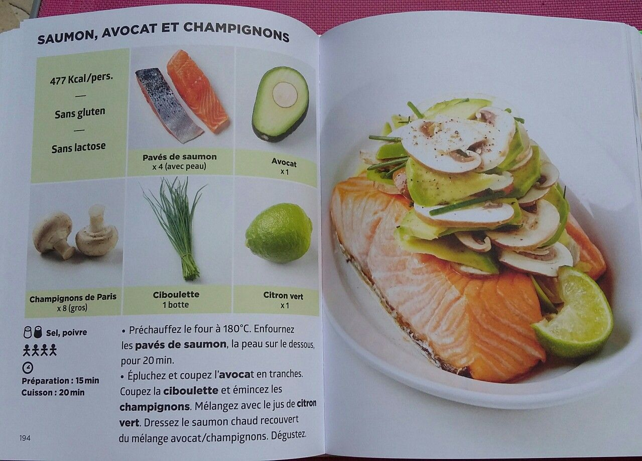 Saumon avocat et champignons simplissime light pinterest for La cuisine simplissime light
