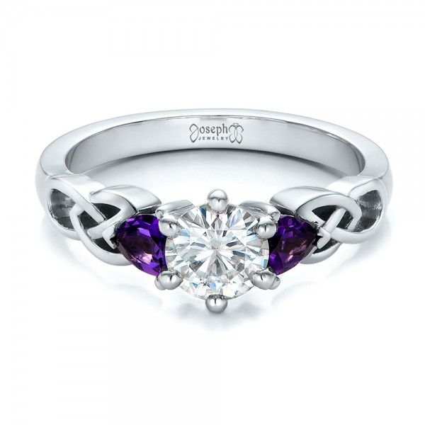 Charmant Ring · Custom Amethyst And Diamond ...