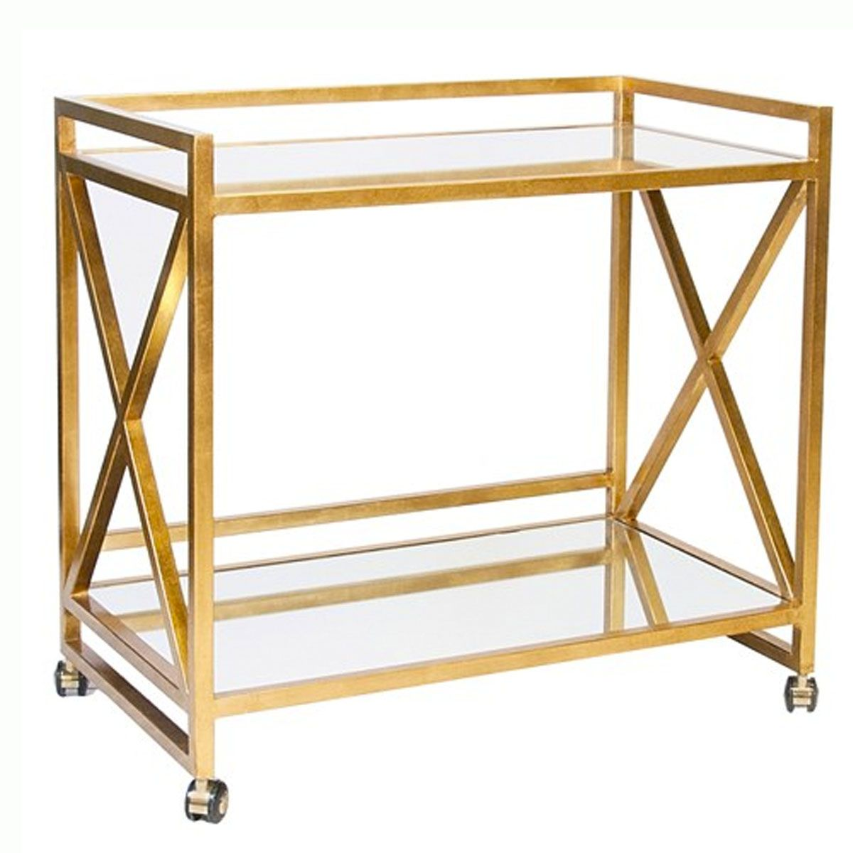 Gold bar cart perfection...good for holiday cocktails!