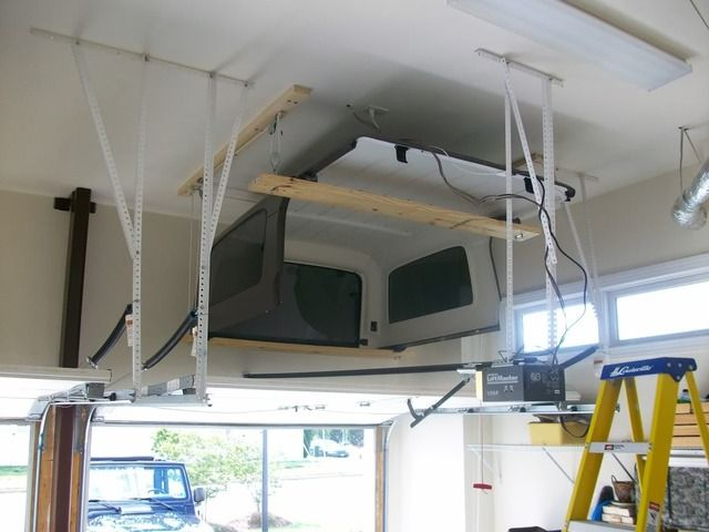 Diy Jeep Hard Top Storage Garage Ceiling Platform Google Search