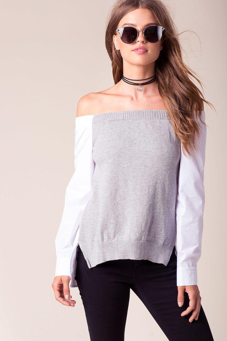 Vanity Off Shoulder Sweater | Cosas para ponerse | Pinterest ...