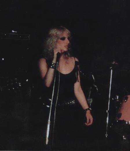 With Jerry Nolan at Max's Kansas City, New York, September 7th, 1978. Photo: Eileen Polk