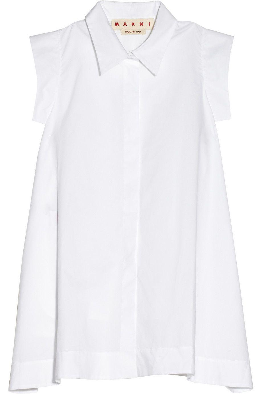 Marni - Cotton-poplin A-line shirt