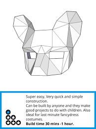 Image result for 3d cardboard mask template | Masks | Pinterest ...