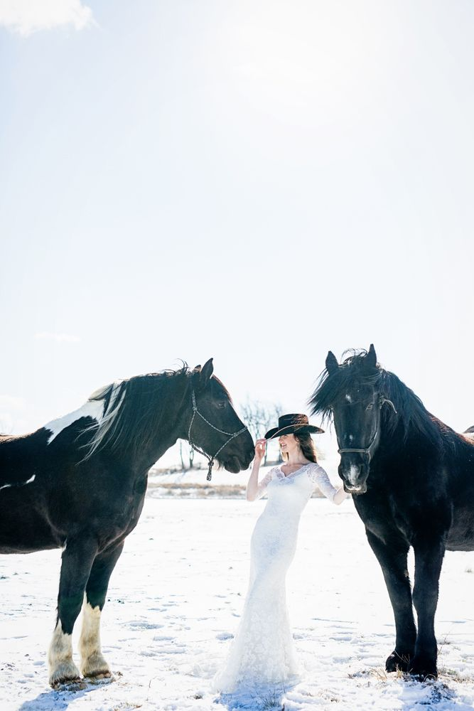 Happy bride with wedding horse  | Saratoga Springs, NY wedding photographer