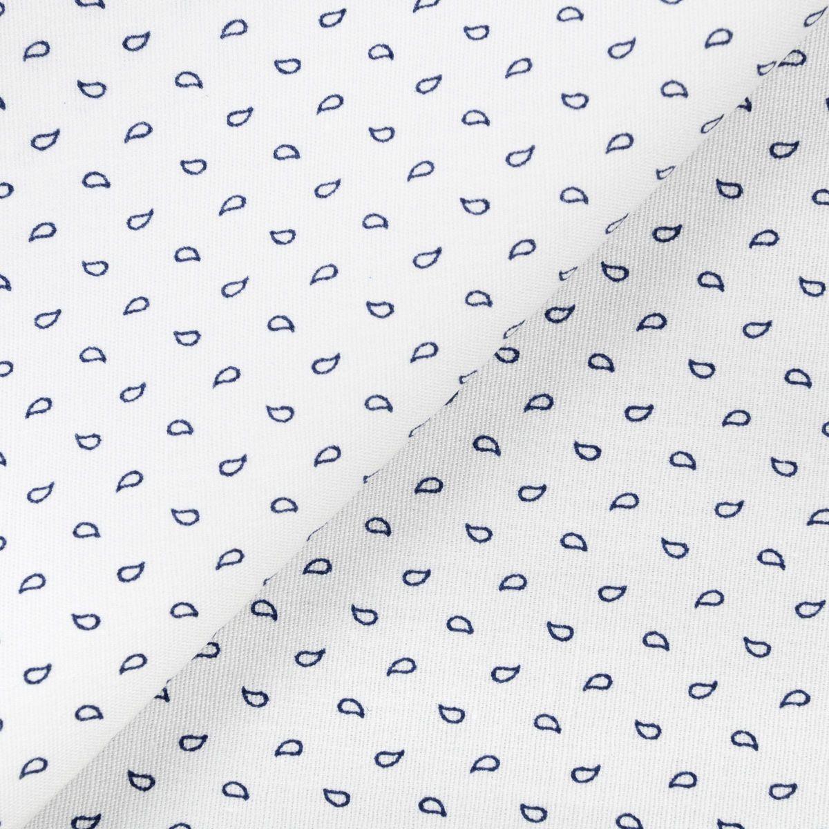 3606a0332cb $9.99/metre POPLIN SHIRTING MOROCCO BLUES - WHITE - fashion - by categories  - fabrics