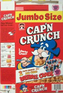Cereal Box Price Guide - The Outlaw Archives - 3,600+ Collectible Pictures n Values by sj glew: Cap'n Crunch cereal box price guide