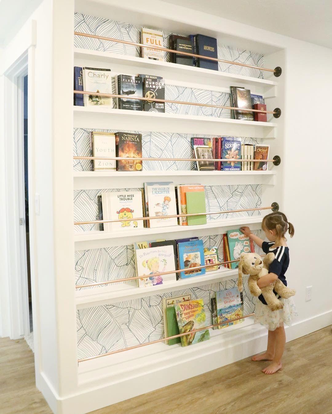 The Palms In White Wallpaper Bookshelves Built In Cheap Home Decor Home