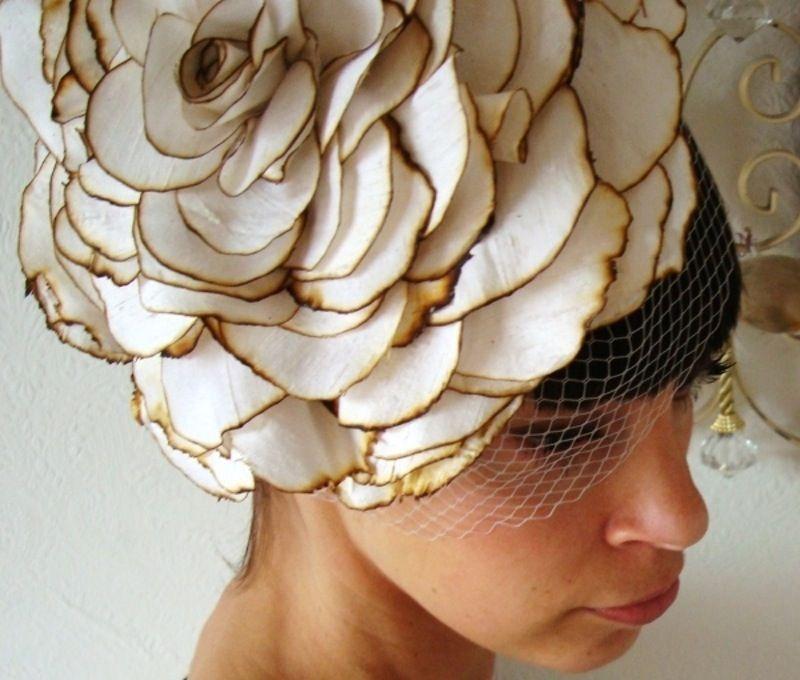 Giant Flower - 13  Fabulous DIY Fascinators ... → Hair  Birdcage 41599584c7d