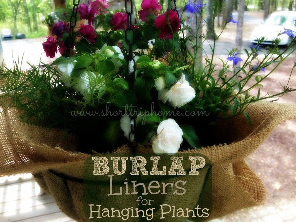 Burlap Hanging Basket Linereasy Cheap And Working