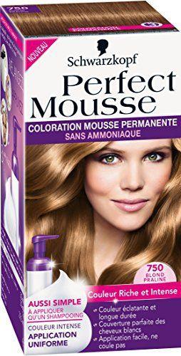 Schwarzkopf Perfect Mousse – Coloration Permanente – Blond Praline 750: Dimensions: 8,1 x 16,8 x 8,1 cm Coloration permanente Mousse sans…