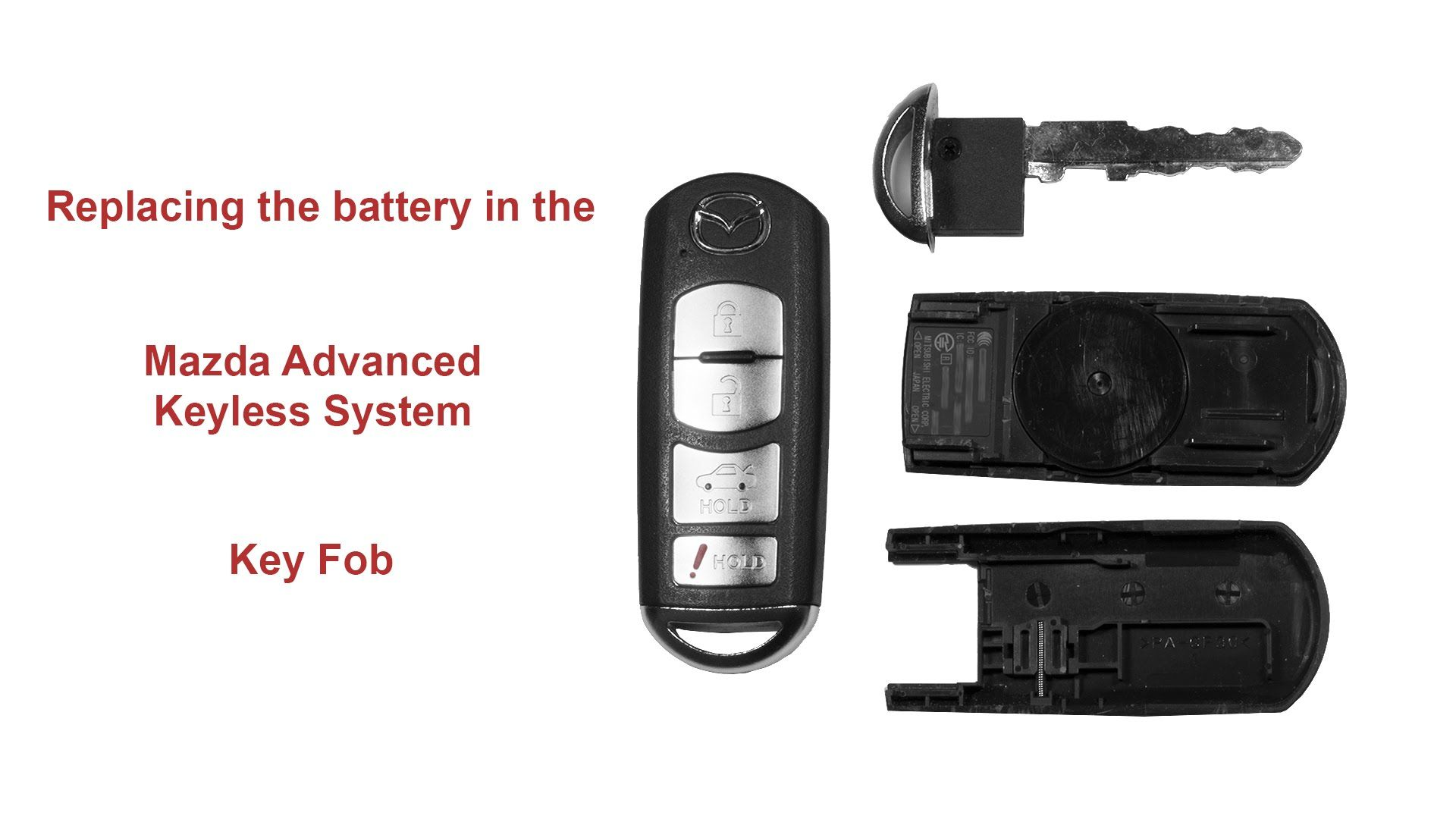 Delightful Replacing The Battery In The Mazda Advanced Keyless System Key Fob