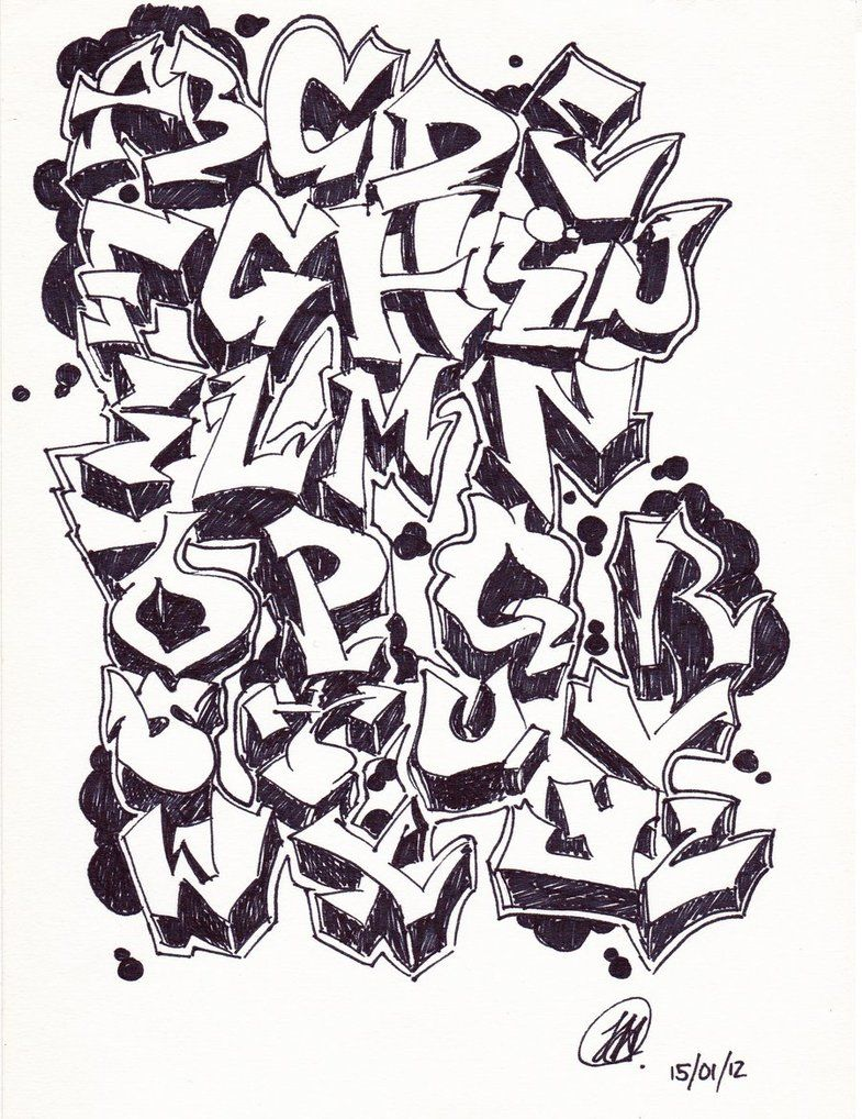 Black and white graffiti google search graffiti alphabet